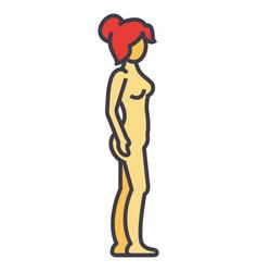 Woman body profile female silhouette concept vector
