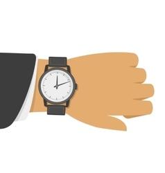 Wrist watch on hand vector