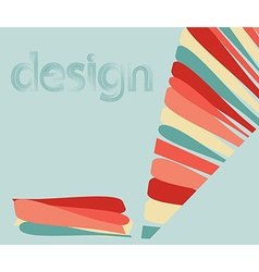 abstract background with a colored pencil lines vector image
