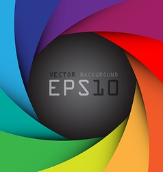 Colorful camera shutter background eps10 vector image