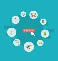 flat icons decorative ramadan kareem bead and vector image vector image