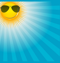 Happy sun background vector