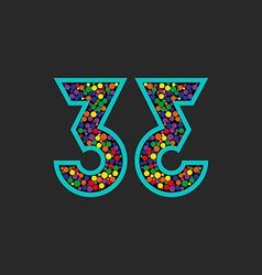 Number 33 logo mockup birthday celebration poster vector image vector image