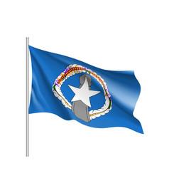 waving flag of northern mariana vector image