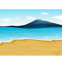 A sea shore vector image vector image