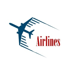Airlines emblem or icon vector image