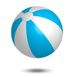 blue summer ball vector image