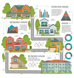 Buildings Flat Infographics vector image vector image