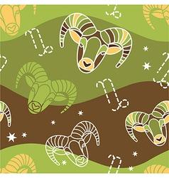 Capricorn - Zodiac seamless pattern vector image