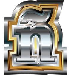 Fancy font Letter vector image vector image