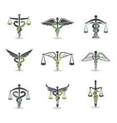 health law icon vector image vector image