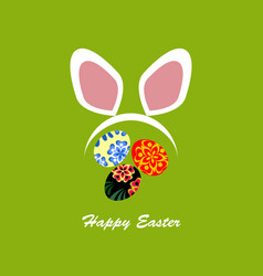 colorful happy easter with rabbit vector image