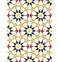 moroccan style mosaic ornament vector image