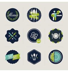 Restaurant menu labels set of design elements vector image