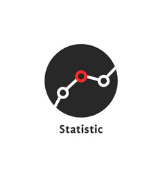 round simple statistic logo on white vector image