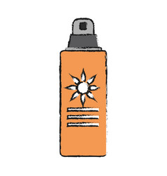 spray sunscreen protection vector image
