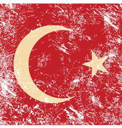 Turkey retro flag vector image vector image