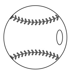 baseball icon outline style vector image