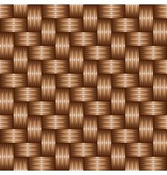 brown weaving pattren vector image vector image