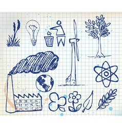 ecology handdrawn vector image vector image