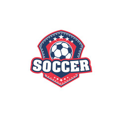 football or soccer ball icon for sport team badge vector image
