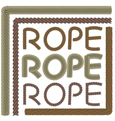Rope elements and forms vector