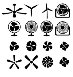 Set of fans and propellers icons vector image vector image