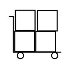 shipping icon vector image