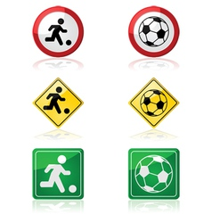 Soccer signs vector image vector image