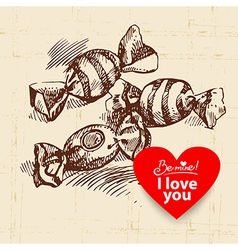 Valentines Day vintage background vector image vector image