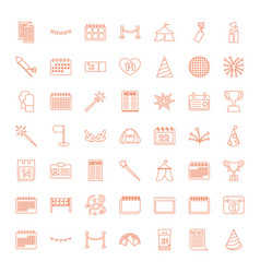 49 event icons vector image