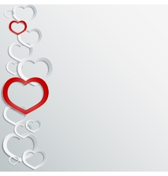 Abstract 3D paper hearts background with place for vector