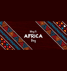 Africa day banner traditional african art vector