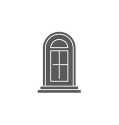 Arch door icon symbol isolated on white background vector