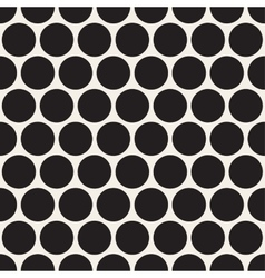 Black dotted seamless geometric pattern vector
