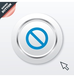 Blacklist sign icon User not allowed symbol vector image