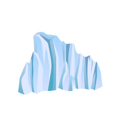blue iceberg or ice mountain climbing or alpinism vector image