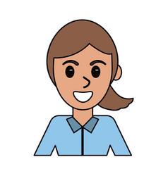 cartoon woman female people design vector image
