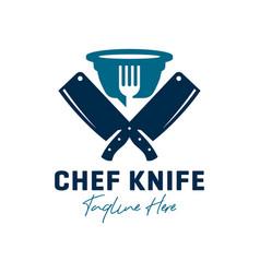 Chef knife inspiration logo design vector