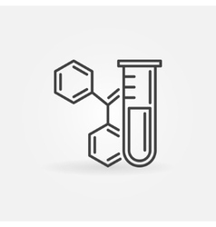 Chemistry icon or logo vector