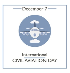 civil aviation day vector image