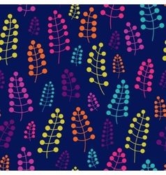 Colored seamless pattern with blossom twigs vector image