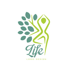 colorful life logo design with abstract human vector image