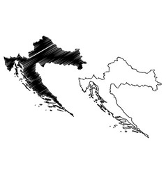 Croatia map vector