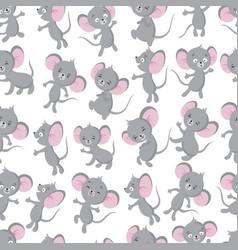 Cute bamouse seamless pattern adorable toddler vector