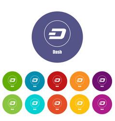 Dash icon simple style vector