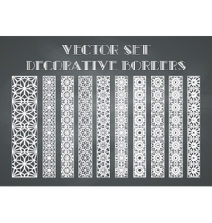 decorative borders vector image vector image