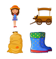 Design of farm and agriculture icon vector