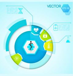 diagram design template vector image