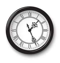 Elegant roman numeral wall clock vector